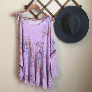Free People Lilac tunic dress